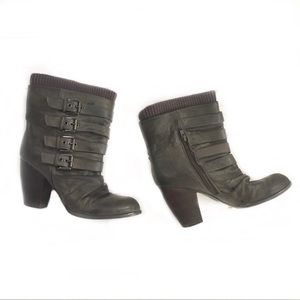 ALDO Gray heeled ankle booties 40